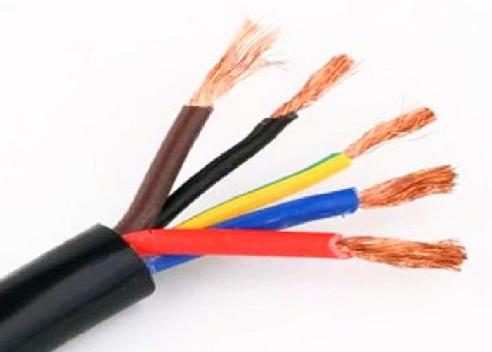 Stranded Bare Copper Rubber Insulated Cable , Rubber Sheathed Flexible Cable