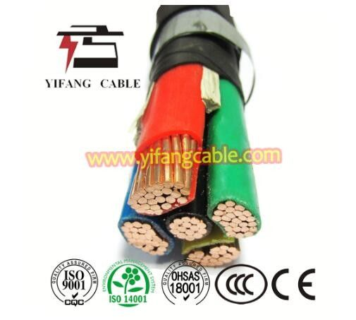 0.6/1kv Cu XLPE PVC Power Cable / XLPE Copper Cable For Construction